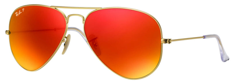 Ray Ban Aviator Orange Flash Polarized Sunglasses People