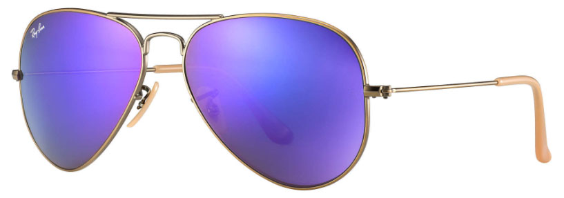 17a8407ea18dc Ray Ban Aviator Violet Mirror Flash 58mm RB3025 167 1M 58-14