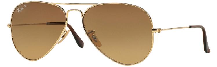 6553424a8cbc ... switzerland ray ban aviator gold brown gradient polarized rb3025 001 m2  58 14 9757d eccf6