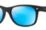 Ray Ban New Wayfarer Black Matte Blue Flash